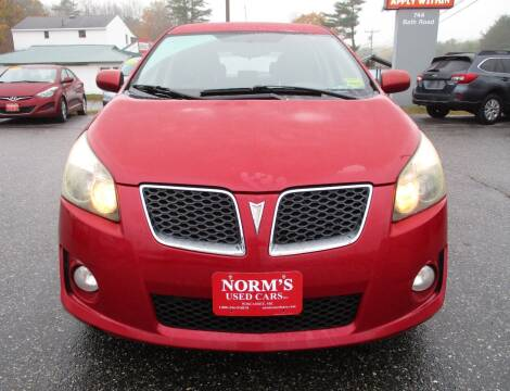 2009 Pontiac Vibe for sale at NORM'S USED CARS INC in Wiscasset ME