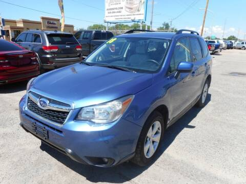 2016 Subaru Forester for sale at AUGE'S SALES AND SERVICE in Belen NM
