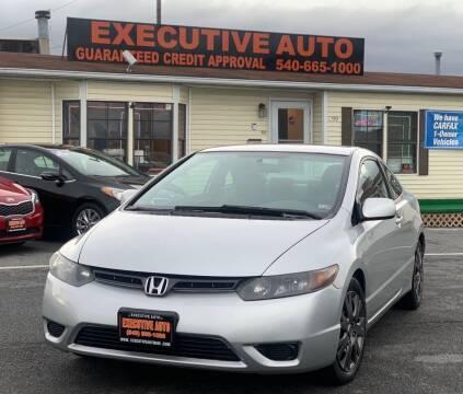 2007 Honda Civic for sale at Executive Auto in Winchester VA