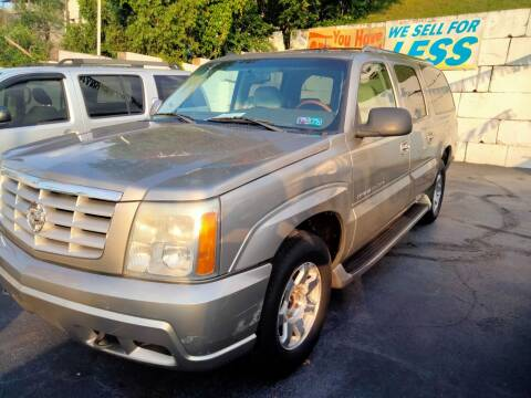2003 Cadillac Escalade ESV for sale at High Level Auto Sales INC in Homestead PA