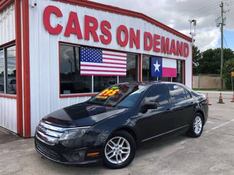 2012 Ford Fusion for sale at Cars On Demand 3 in Pasadena TX