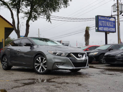 2017 Nissan Maxima for sale at Winter Park Auto Mall in Orlando FL