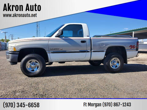 1998 Dodge Ram Pickup 1500 for sale at Akron Auto - Fort Morgan in Fort Morgan CO