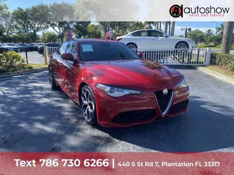 2019 Alfa Romeo Giulia for sale at AUTOSHOW SALES & SERVICE in Plantation FL