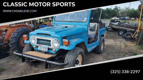 1967 Toyota Land Cruiser for sale at CLASSIC MOTOR SPORTS in Winters TX
