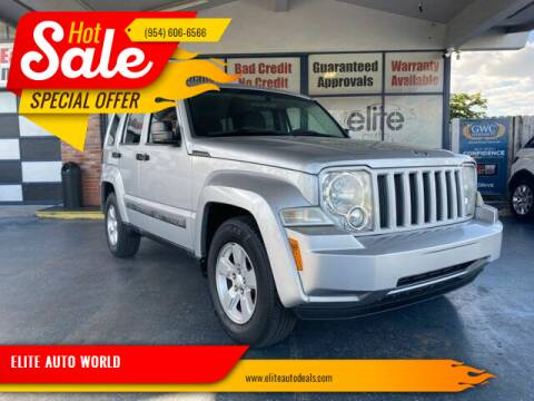 2011 Jeep Liberty for sale at ELITE AUTO WORLD in Fort Lauderdale FL