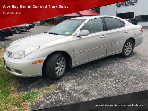 2003 Lexus ES 300 for sale at Alex Bay Rental Car and Truck Sales in Alexandria Bay NY