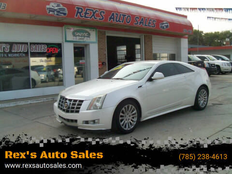 2012 Cadillac CTS for sale at Rex's Auto Sales in Junction City KS