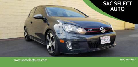 2011 Volkswagen GTI for sale at SAC SELECT AUTO in Sacramento CA