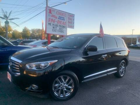2015 Infiniti QX60 for sale at 1st Choice Auto Sales in Newport News VA