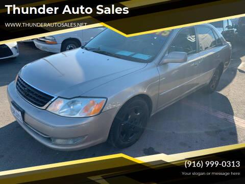 2004 Toyota Avalon for sale at Thunder Auto Sales in Sacramento CA