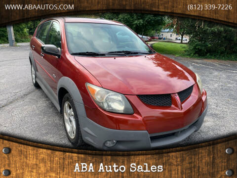 2004 Pontiac Vibe for sale at ABA Auto Sales in Bloomington IN