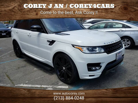 2016 Land Rover Range Rover Sport for sale at WWW.COREY4CARS.COM / COREY J AN in Los Angeles CA