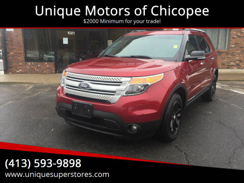 2014 Ford Explorer for sale at Unique Motors of Chicopee in Chicopee MA
