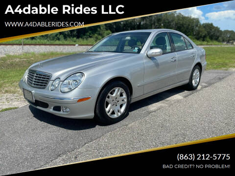 2003 Mercedes-Benz E-Class for sale at A4dable Rides LLC in Haines City FL