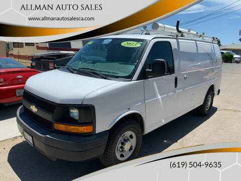 2013 Chevrolet Express Cargo for sale at ALLMAN AUTO SALES in San Diego CA
