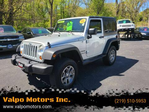 2011 Jeep Wrangler for sale at Valpo Motors Inc. in Valparaiso IN