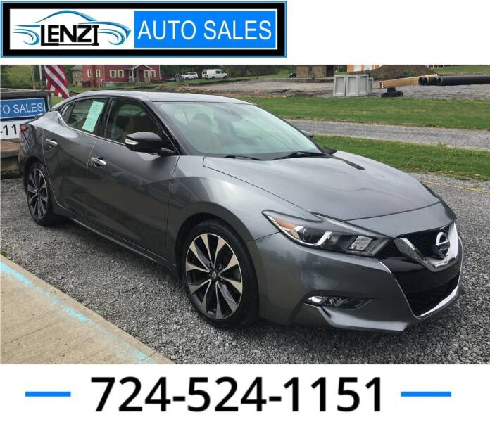 2016 Nissan Maxima for sale at LENZI AUTO SALES in Sarver PA