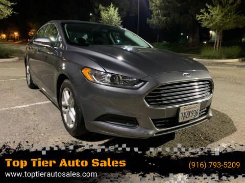 2013 Ford Fusion for sale at Top Tier Auto Sales in Sacramento CA