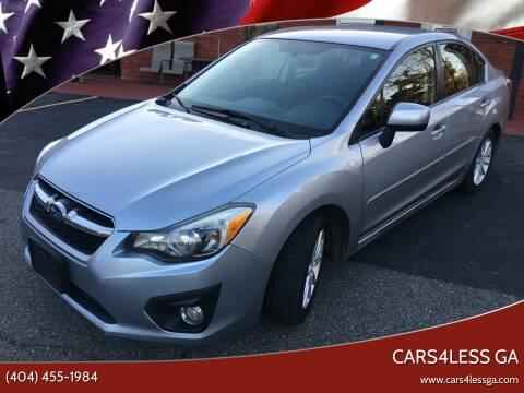 2013 Subaru Impreza for sale at Cars4Less GA in Alpharetta GA