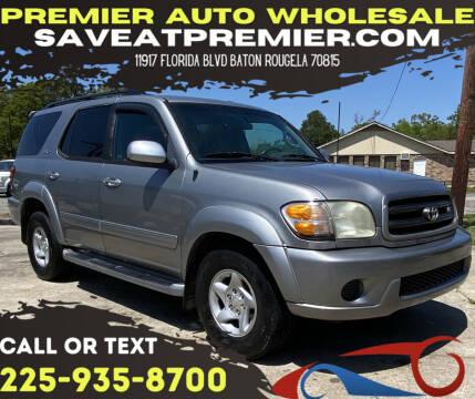 2002 Toyota Sequoia for sale at Premier Auto Wholesale in Baton Rouge LA