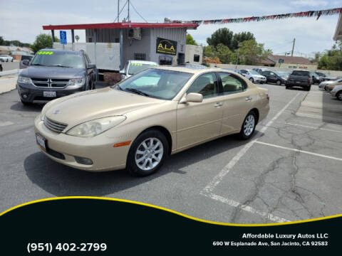 2002 Lexus ES 300 for sale at Affordable Luxury Autos LLC in San Jacinto CA