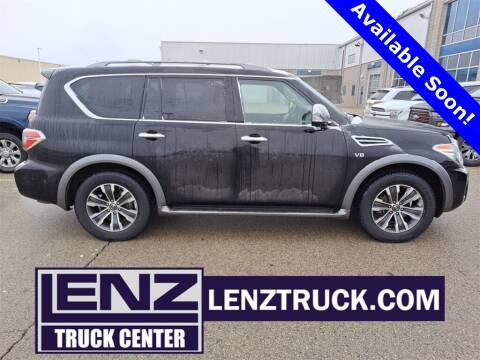 2018 Nissan Armada for sale at LENZ TRUCK CENTER in Fond Du Lac WI