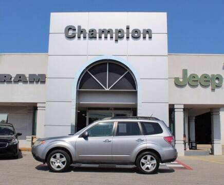 2010 Subaru Forester for sale at Champion Chevrolet in Athens AL
