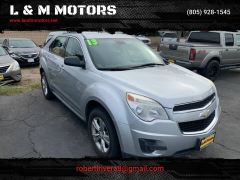 2013 Chevrolet Equinox for sale at L & M MOTORS in Santa Maria CA