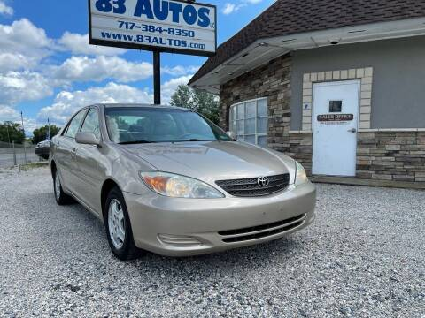 2002 Toyota Camry for sale at 83 Autos in York PA