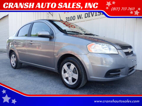 2009 Chevrolet Aveo for sale at CRANSH AUTO SALES, INC in Arlington TX