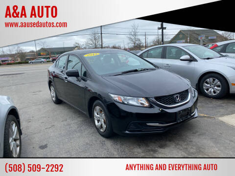 2015 Honda Civic for sale at A&A AUTO in Fairhaven MA