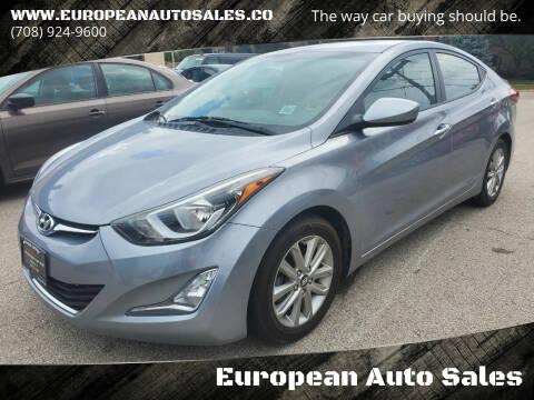 2016 Hyundai Elantra for sale at European Auto Sales in Bridgeview IL