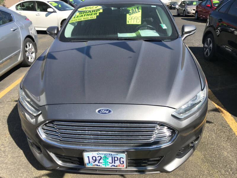 2013 Ford Fusion for sale at ET AUTO II INC in Molalla OR