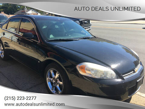 2007 Chevrolet Impala for sale at AUTO DEALS UNLIMITED in Philadelphia PA