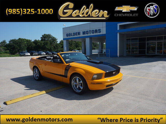 2008 Ford Mustang for sale at GOLDEN MOTORS in Cut Off LA