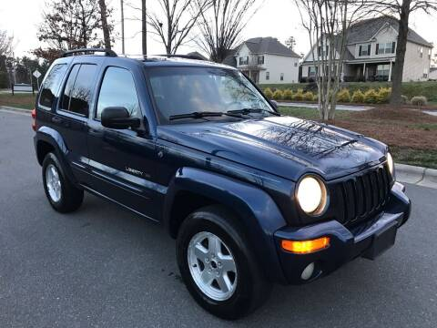 2002 Jeep Liberty for sale at CVC AUTO SALES in Durham NC
