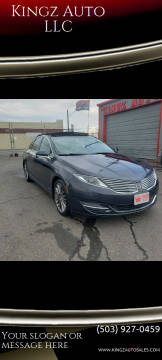 2013 Lincoln MKZ Hybrid for sale at Kingz Auto LLC in Portland OR