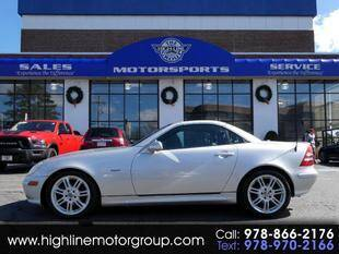 2004 Mercedes-Benz SLK for sale at Highline Group Motorsports in Lowell MA
