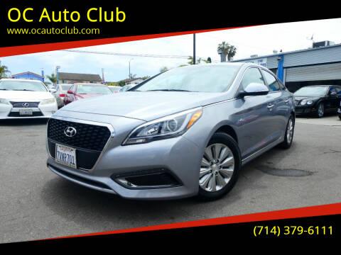 2016 Hyundai Sonata Hybrid for sale at OC Auto Club in Midway City CA