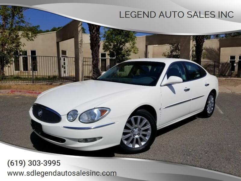 2007 Buick LaCrosse for sale at Legend Auto Sales Inc in Lemon Grove CA
