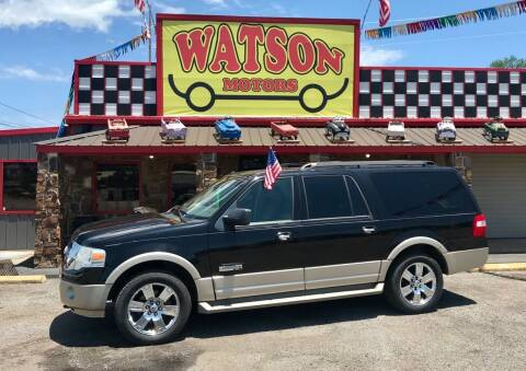 2007 Ford Expedition EL for sale at Watson Motors in Poteau OK