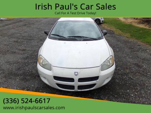 2003 Dodge Stratus for sale at Irish Paul's Car Sales in Burlington NC