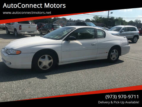 2002 Chevrolet Monte Carlo for sale at AutoConnect Motors in Kenvil NJ