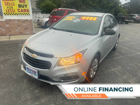 2016 Chevrolet Cruze Limited for sale at Excel Auto Sales LLC in Kawkawlin MI