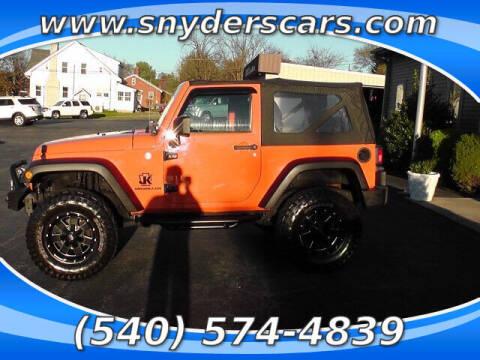2012 Jeep Wrangler for sale at Snyders Auto Sales in Harrisonburg VA