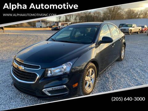 2015 Chevrolet Cruze for sale at Alpha Automotive in Odenville AL