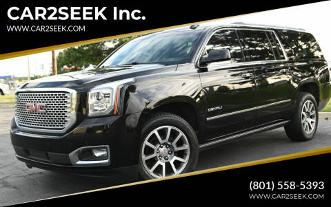 2017 GMC Yukon XL for sale at CAR2SEEK Inc. in Salt Lake City UT