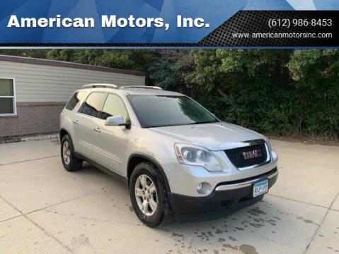 2009 GMC Acadia for sale at American Motors, Inc. in Farmington MN