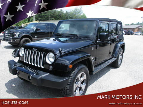 2016 Jeep Wrangler Unlimited for sale at Mark Motors Inc in Gray KY